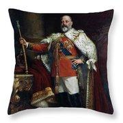 King Edward Vii Of England (1841-1910) Throw Pillow