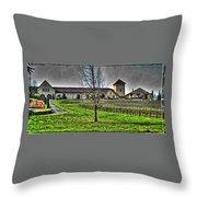King Estate Winery Throw Pillow