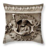 King Gambrinus Throw Pillow