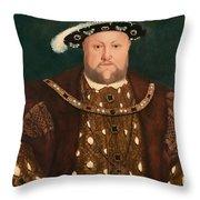 King Henry Viii Throw Pillow