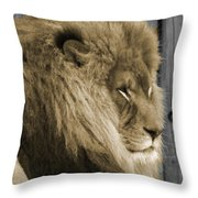 King In Sepia Throw Pillow