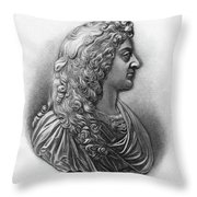 King James II Of England (1633-1701) Throw Pillow