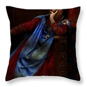 King John Ponders The Magna Carta Throw Pillow