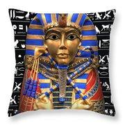 King Of Egypt Throw Pillow