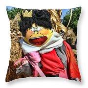 King Of Hearts Scarecrow By Diana Sainz Throw Pillow