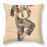 King Of Pop In Concert No 10 Throw Pillow