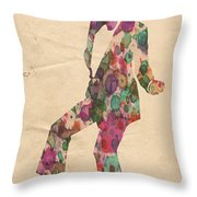 King Of Pop In Concert No 5 Throw Pillow