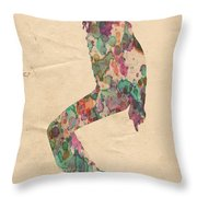 King Of Pop In Concert No 8 Throw Pillow