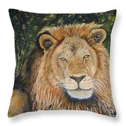 King Of The African Savannah Throw Pillow