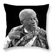 King Of The Blues 2013 Throw Pillow