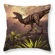 King Of The Dinosaurs.. A T.rex Throw Pillow