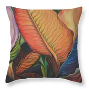 King Of The Leaves Throw Pillow