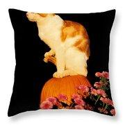 King Of The Pumpkin Throw Pillow