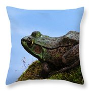 King Of The Rock Throw Pillow