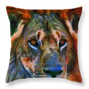 King Of The Wilderness Throw Pillow