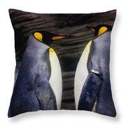 King Penguin Throw Pillow