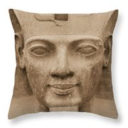 King Ramses II  Throw Pillow