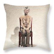 King Throw Pillow by Taylan Apukovska