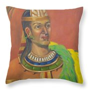 King Topiltzin Throw Pillow by Lilibeth Andre