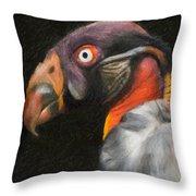King Vulture - Impasto Throw Pillow