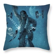 King Wookiee Throw Pillow