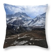 Kingdom Of Mustang - Nepal Throw Pillow