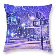Kingdoms Of Heaven And Earth - Blue Throw Pillow