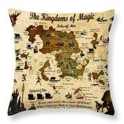 Kingdoms Of Magic Battle Map Throw Pillow