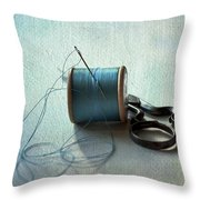 Kingfisher Blue Throw Pillow