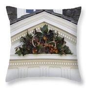 Kings Arms Pediment Spray Throw Pillow
