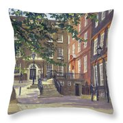 Kings Bench Walk, Inner Temple Oil On Canvas Throw Pillow