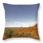 Kings Canyon-the Rim Throw Pillow