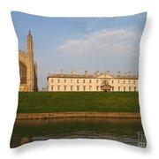 Kings College Cambridge Throw Pillow