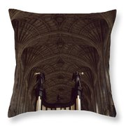 King's College Chapel Throw Pillow