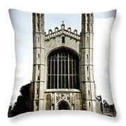 King's College Chapel - Poster Throw Pillow