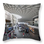 Kings Cross Station Throw Pillow