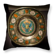 King's Plate Throw Pillow