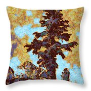 Kings River Canyon Colorized Throw Pillow
