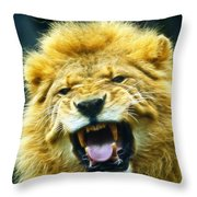 Kings Roar Throw Pillow