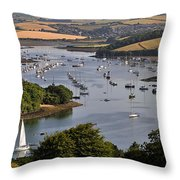 Kingsbridge Estuary Devon Throw Pillow