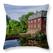 Kingston Mill Near Princeton New Jersey Throw Pillow
