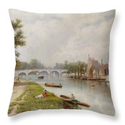 Kingston On Thames Throw Pillow by Robert Finlay McIntyre