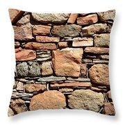 Kinishba Masonry Throw Pillow
