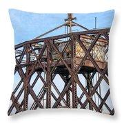 Kinnickinnic River Swing Bridge  4 Throw Pillow