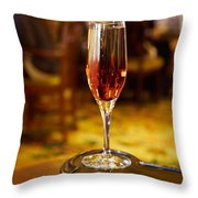 Kir Royale In A Champagne Glass Throw Pillow