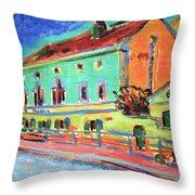 Kirchner's Houses In Dresden Throw Pillow