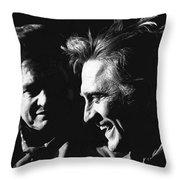 Kirk Douglas Laughing Johnny Cash Old Tucson Arizona 1971 Throw Pillow