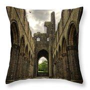 Kirkstall Abbey Throw Pillow