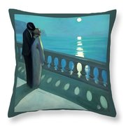 Kiss By Moonlight Throw Pillow