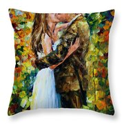 Kiss In The Woods Throw Pillow
